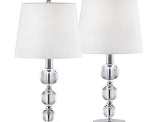 2 Pcs Set  TARANTO Crystal Balls Table lamps  Retail 86 49
