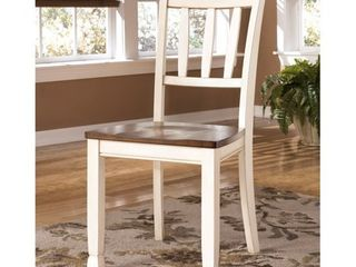 2pc Whitesburg Dining Room Side Chair Cottage White   Signature Design by Ashley