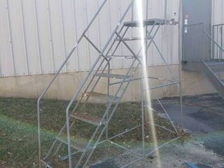 8 Step Rolling warehouse ladder