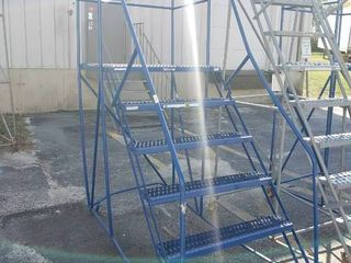 6 Step Rolling warehouse ladder
