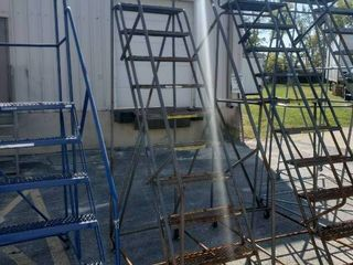 10 Step Rolling warehouse ladder