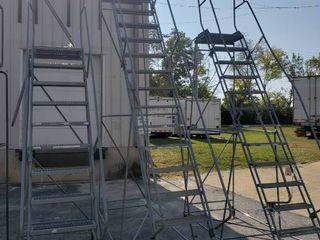 16 Step Rolling warehouse ladder