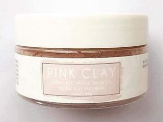 Pink Clay Floral Facial Mask 85g 2 9oz Exfoliate  Detox  Brighten   Pink