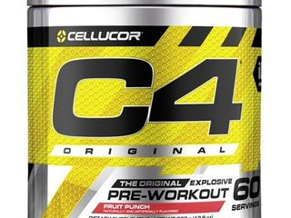 Cellucor   C4 Fitness Training Pre Workout Supplement for Men and Women   Enhance Energy and Focus with Creatine Nitrate and Vitamin B12  Fruit Punch  60 Servings