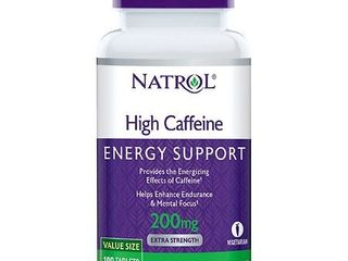 Natrol High Caffeine 200mg Tablets  100 Count