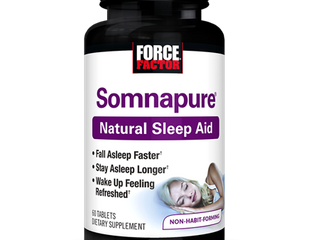 Force Factor Somnapure Relaxing Natural Sleep Aid For Adults with Melatonin  Valerian  Chamomile  lemon Balm  60 Ct