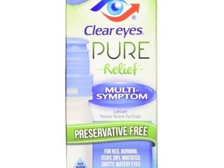 Clear Eyes Pure Multi Symptom Reliever Eye Drops   0 3 oz