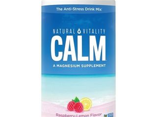 Natural Vitality Natural Calm Anti Stress Raspberry lemon Dietary Supplement Drink   16 oz
