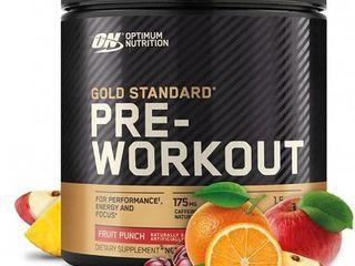 Optimum Nutrition Gold Standard Pre Workout 30 Serve Supplement  Fruit Punch  300 Gram