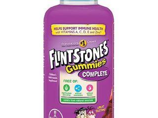Flintstones Children s Complete Multivitamin Gummies   Cherry  Raspberry   Orange   180ct  Kids Unisex