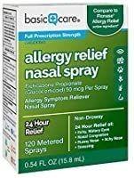 Amazon Basic Care Allergy Relief Nasal Spray Fluticasone Propionate Glucocort