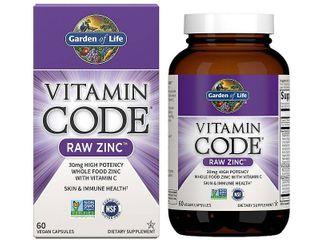 Garden of life Vitamin Code Zinc Capsules  30mg  60 Ct