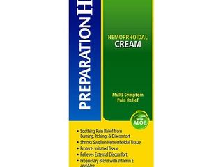 Preparation H Multi Symptom Relief Hemorrhoidal Cream with Aloe   0 9oz