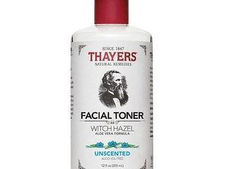Thayers Witch Hazel Aloe Vera Toner  Unscented  12 fl oz