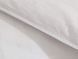 Puredown All Season Natural Down Comforter Stripe 100  Cotton Shell Medium Warmth Quilted Duvet Insert Full Queen White