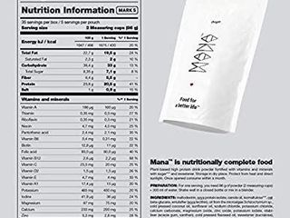 Mana Powder   Origin Meal Replacement   100  nutritionally Complete Food 35 Meals x 400 kcal   No GMO Vegan Snacks for Breakfast   lactose Free Nutritionally Complete Meal Ready in 60 Seconds