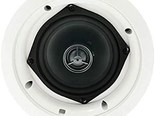 Herdio 5 25 Inches in Ceiling Wall Flush Mount Speakers 8Ohm 300 Watts Peak with Spring loaded Speakers Terminal Easy Installation for Home Theater Office Hotel Restaurant  1 Pair