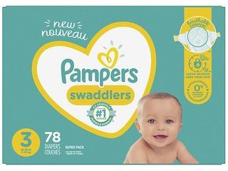 Pampers Swaddlers Soft and Absorbent Diapers  Size 3  78 Ct