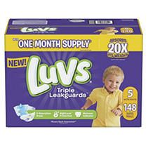 luvs Disposable Diapers Ginormous Pack   Size 5  148ct