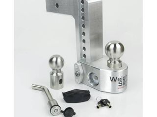 Weigh Safe 8 in  Drop Adjustable Class V Ball Mount