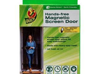 DuckAr Brand Hands Free Magnetic Screen Door   83 in  x 39 in