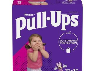 Huggies Pull Ups Girls  learning Designs Training Pants   Size 2T 3T  74ct