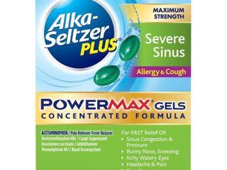 Alka Seltzer Plus PowerMax Severe Sinus Allergy   Cough Relief liquid Gel Capsules   Acetaminophen   24ct