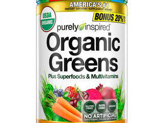Purely Inspired Organic Super Greens Powder with Superfoods   Multivitamins  Non GMO  Gluten Free  Vegan Friendly  Unflavored  24 servings  8 6oz