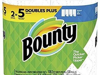 Bounty Select A Size Paper Towels  White  2 Double Plus Rolls   5 Regular Rolls
