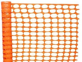 BISupply 4 FT Safety Fence a 100FT Plastic Fencing Roll for Construction Fencing Pet Fencing and Event Fencing  Orange