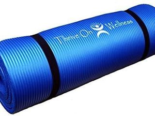 Thrive On Wellness Thick Exercise Mat with Carry Strap   Best Comfort on Hips  Knees  Spine and Joints  72  x 24  x 1 2  Extra long Yoga Mats for P90X  Pilates  Yoga  Strength and Stretch Workouts no straps