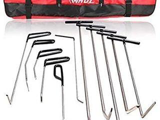 WHDZ Paintless Dent Repair Rods 11Pcs Auto Body Paintless Dent Repair Tools Kit for Door Dings Hail Repair and Dent Removal