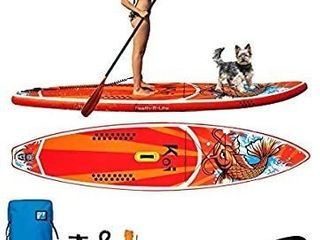FAYEAN Inflatable Stand Up Paddle Board Cruise Thick Includes Pump  Paddle  Backpack  Coil leash Fin and Universal Waterproof Case