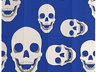 Skull Blue   White Paper Napkin  Eco Friendly 3 Ply wood pulp  Pack of 20  Exclusive Design By Thomas Fuchs Creative