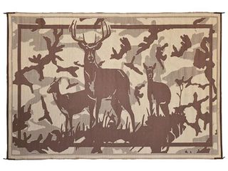 Ming s Mark Reversible 8  x 11  Camping Mat with Deer Design