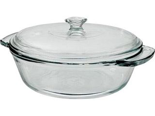 Anchor Hocking Oven Basics Glass 2 Quart Clear Casserole Bowl