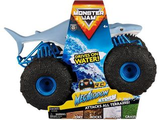 Monster Jam Official Megalodon Storm All Terrain Remote Control Monster Truck   1 15 Scale