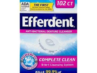 Efferdent Anti Bacterial Denture Cleanser  102 Tablets