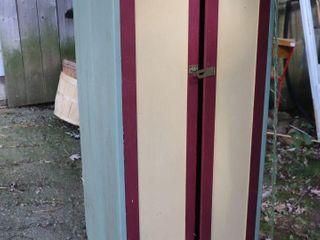 WOODEN 2 DOOR CUPBOARD   21  X 60