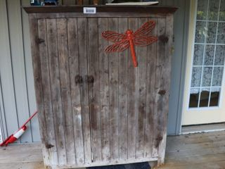 OlD WOODEN CUPBOARD   50 W X 65  H