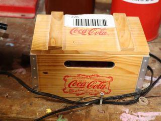 COCA COlA CRATE RADIO   9  X 5  X 5