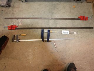 5 ASSORTED BAR ClAMPS