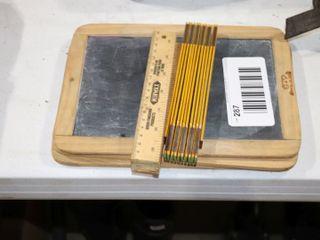 3 SlATE CHAlK BOARDS   FOlDING RUlERS