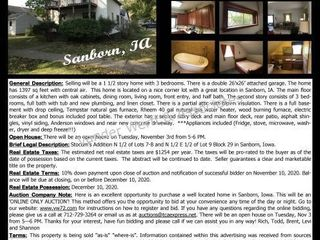 411 Prospect St, Sanborn, IA 51248