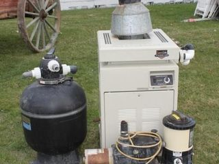 Pool Filter  Heater and Skimmer