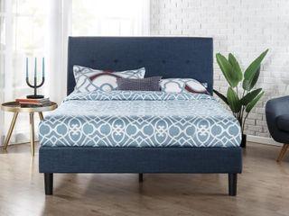 Zinus Upholstered Platform Bed with Diamond