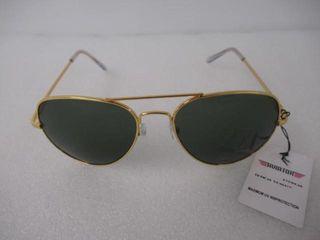 Aviator Sunglasses Unisex Gold UV 400 Protection