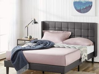 Zinus Upholstered Platform Bed with Square