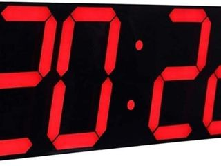 CHKOSDA Jumbo Digital lED Wall Clock