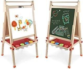 Kids Wooden Art Easel Double Sided Whiteboard